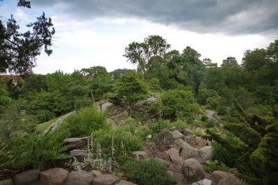 Steingarten im botanischen Garten