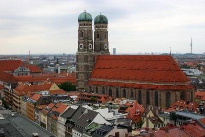 Frauenkirche München von oben