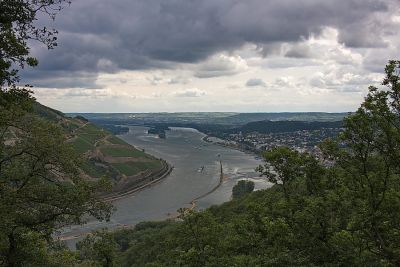 Der Rhein bei Bingen