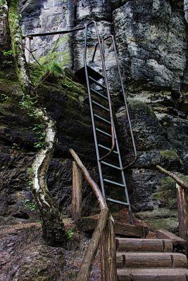 Schrammsteine - Aufstieg