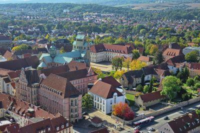 Der Dom vom Turm der Andreaskirche
