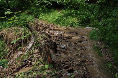 Überschwemmter Weg